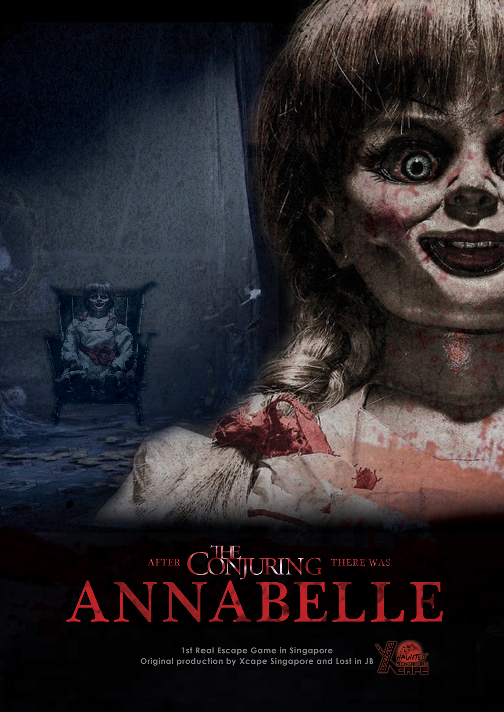 Annabelle -  Xcape Singapore Real Room Escape Games  Bugis Village Xcape Horror